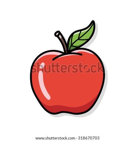 apple doodle - stock vector