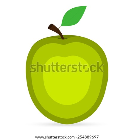 apple on a white background - stock vector