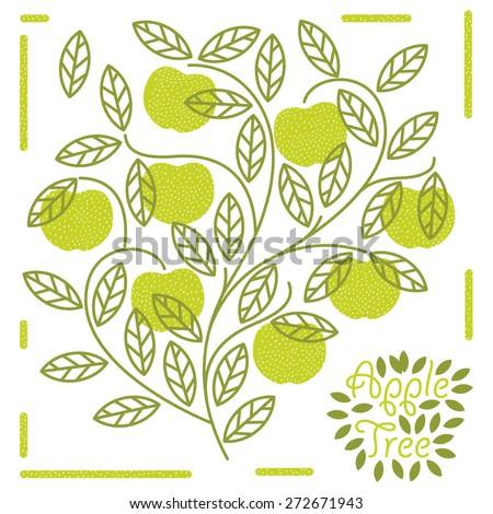 apple tree - stock vector