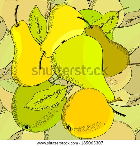 apples and pears - stock vector