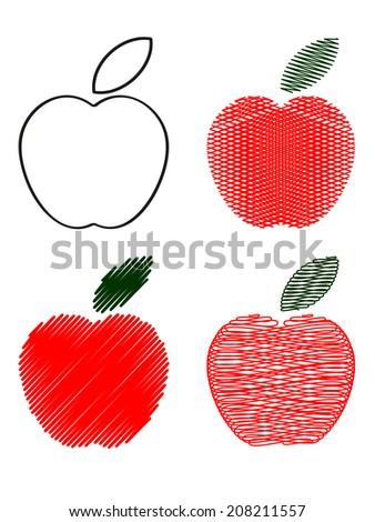 Apples icons. - stock vector