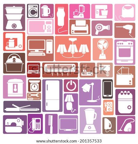 Appliance - stock vector