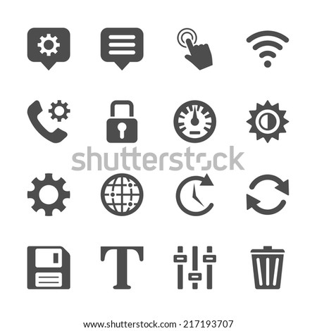 application menu icon set, vector eps10. - stock vector
