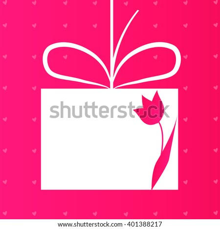 Applique card or background with flower. Vector illustration for your design - stock vector