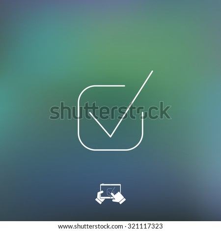 Approval icon - stock vector