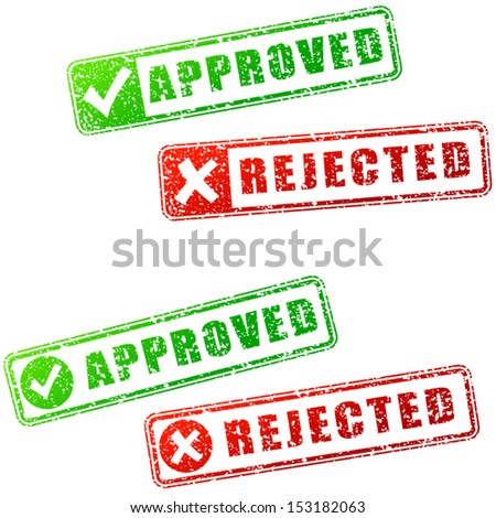 Approved stamp - stock vector