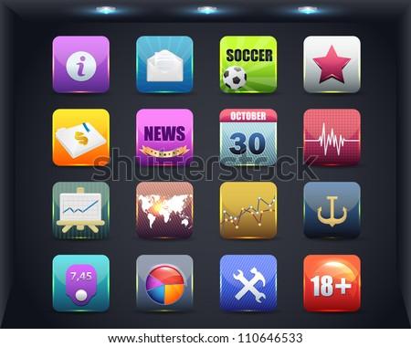 Apps Icon Vector Design 01 - stock vector