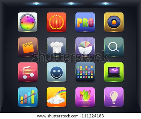 Apps Icon Vector Design 03 - stock vector