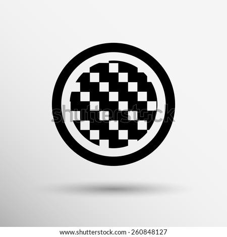Apps metal-carbon icon carbon fiber vector black background iron icon. - stock vector