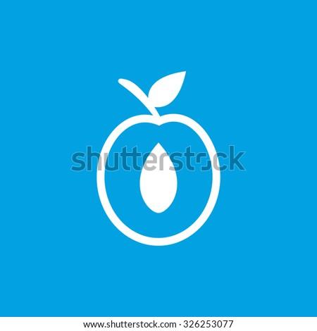 Apricot half icon. Apricot half icon art. Apricot half icon web. Apricot half icon new. Apricot half icon www. Apricot half icon app. Apricot half icon big. Apricot half icon ui - stock vector