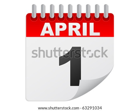 april day - stock vector
