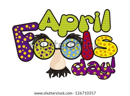 april foods day illustration with words. vector background - stock vector