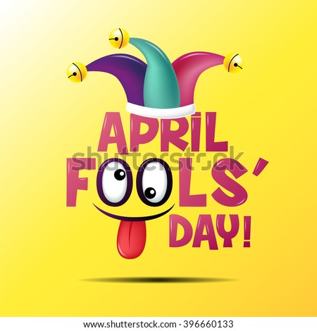April fool's day, Typography, Colorful - stock vector
