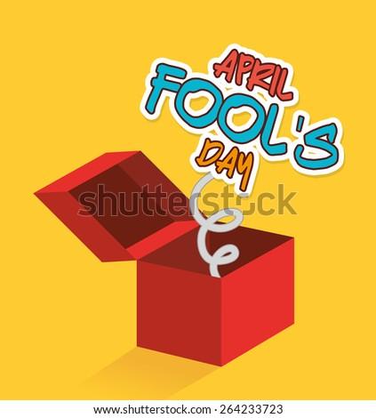 April fools day card design, vector illustration. - stock vector