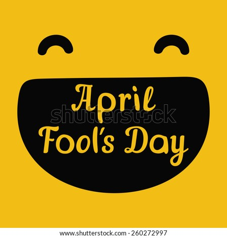 April Fools Day design with text - stock vector