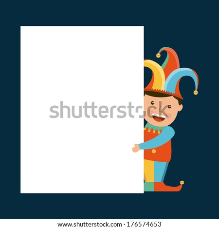 april fools day over blue  background vector illustration - stock vector