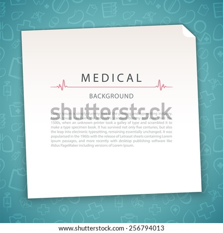 Aquamarine Medical Background. In the EPS file, each element is grouped separately. - stock vector