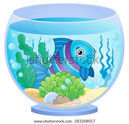 Aquarium theme image 8 - eps10 vector illustration. - stock vector