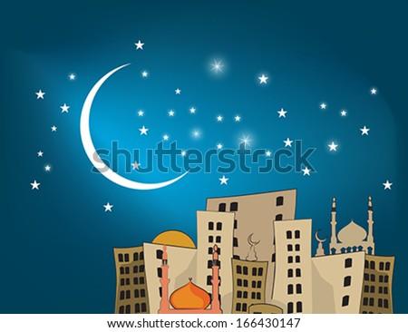 Arab city - stock vector