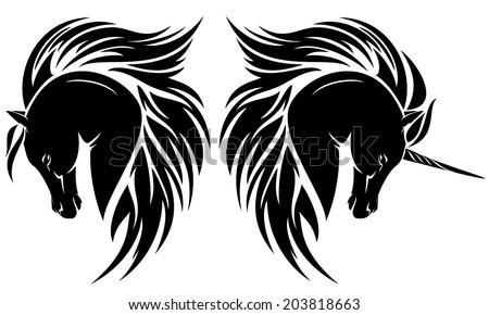 arabian horse head tattoo. Black Bedroom Furniture Sets. Home Design Ideas
