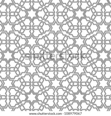 Arabian delicate pattern. Vector illustration - stock vector