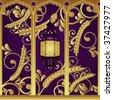 Arabian style luxury lamp. Vector illustration. - stock vector