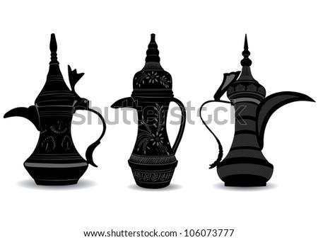 Arabic Coffee Pot - Dallah - Vector Illustration - stock vector