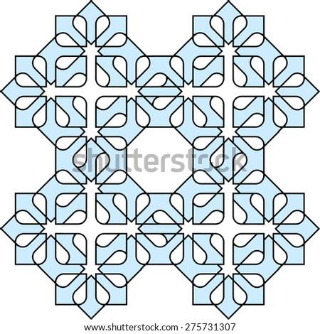 Arabic decorative pattern. Vector EPS10 - stock vector