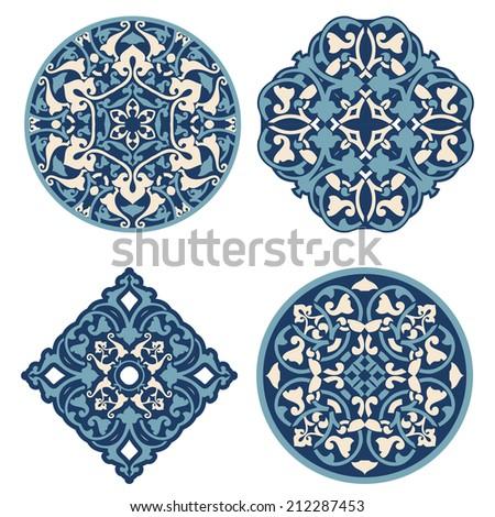 Arabic Islam decor elements vector - stock vector