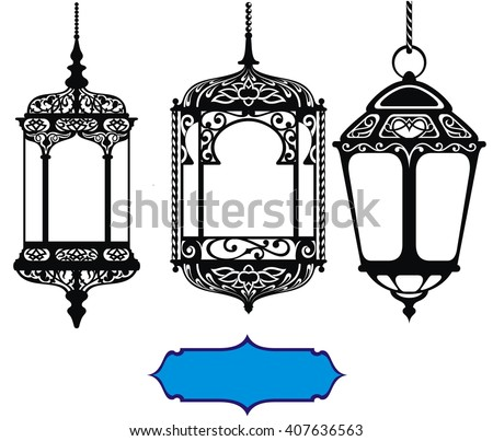 Ramadan lamp stock vectors vector clip art shutterstock for Clip lights for crafts