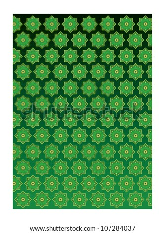Arabic pattern background vector - stock vector