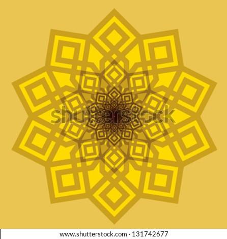 Arabic Pattern. Islamic Symbol - stock vector