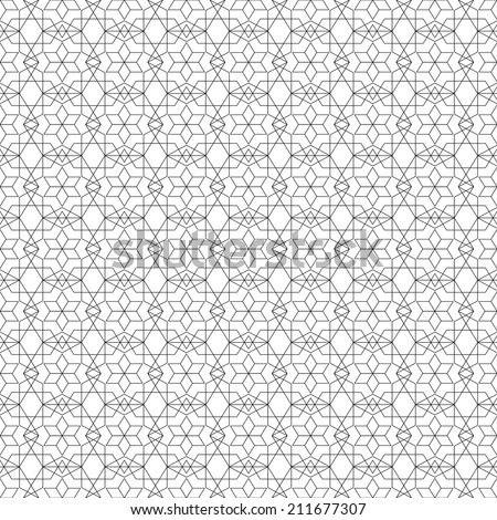 Arabic seamless ornament. Abstract background geometry light - stock vector