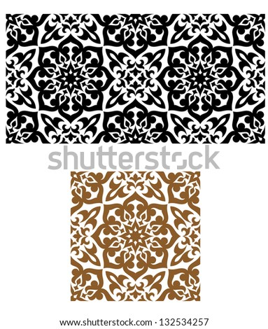 Arabic seamless ornament in retro style for background design. Jpeg (bitmap) version also available in gallery - stock vector