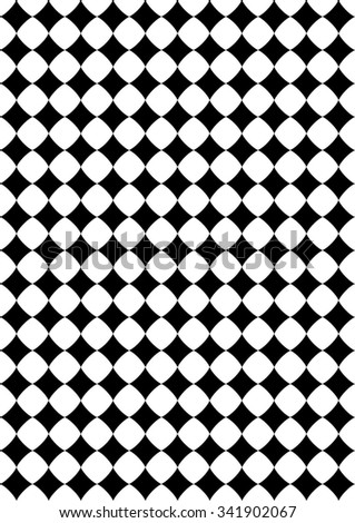 arched rectangles. Seamlessly repeatable vector pattern. Checkered (chequered) background with tilted squares. - stock vector