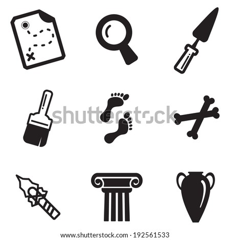 Archeology Icons - stock vector