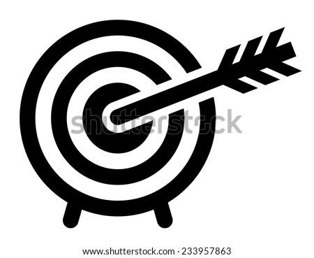Archery icon - stock vector