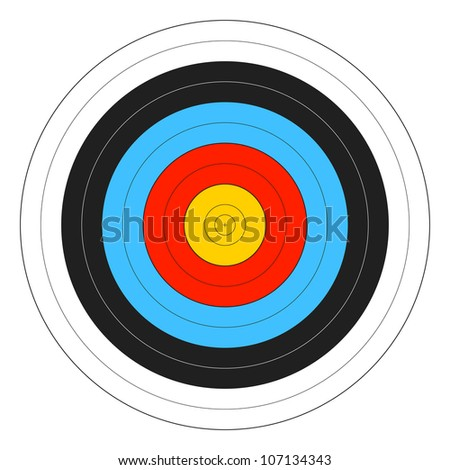 Archery Target. Vector. - stock vector