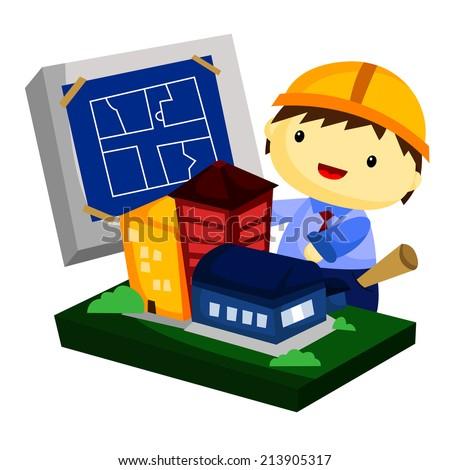 architect - stock vector