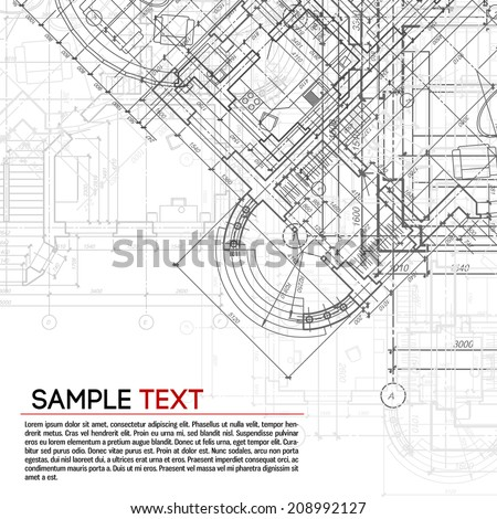 Architectural background. - stock vector