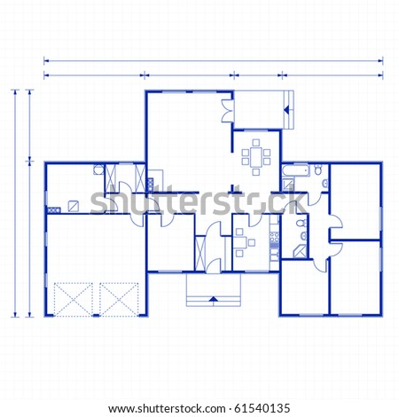 architectural background. vector blueprint - stock vector