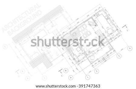 Architectural background. Vector blueprint. Detailed floor plans. - stock vector