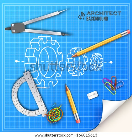 Architectural background. Vector Illustration, eps10, contains  - stock vector