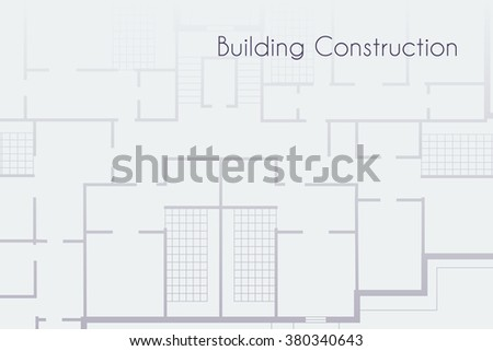 Architectural background. Vector illustration with technical plan  - stock vector