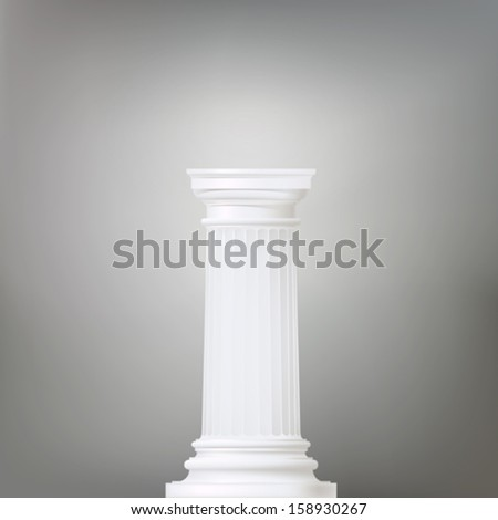 architectural background with doric column , vector drawing - stock vector