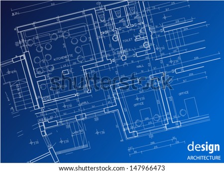 Architectural business floor plan - stock vector