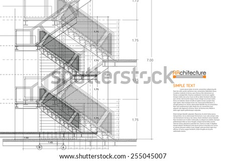 Architecture Background - stock vector