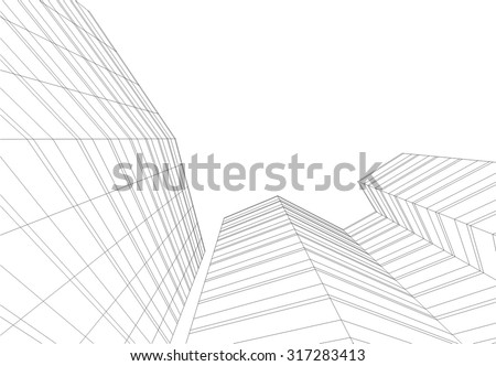 Architecture background. Building construction - stock vector
