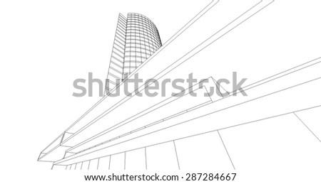 architecture building - stock vector