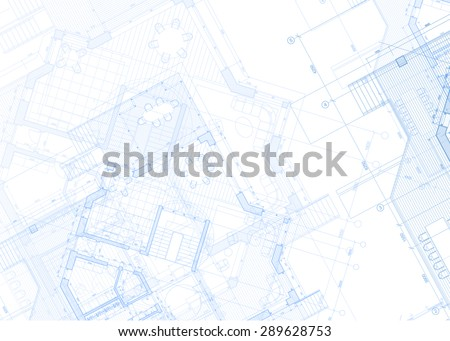 Architecture design: blueprint plans - vector illustration - stock vector